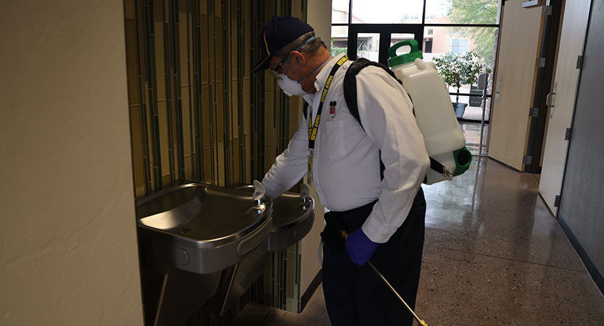 Sanitizing Drinking Water Fountain